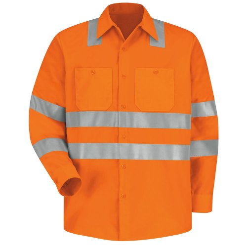 Hi-Visibility 100% Polyester Long Sleeve Work Shirt Type R, Class 3