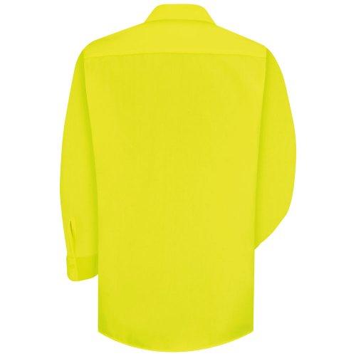 Enhanced Visibility 100% Polyester Long Sleeve Work Shirt