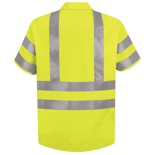 Hi-Visibility 100% Polyester Short Sleeve Work Shirt Type R, Class 3