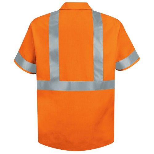 Hi-Visibility 100% Polyester Short Sleeve Work Shirt Type R, Class 2