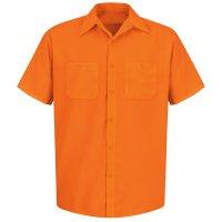 Enhanced Visibility 100% Polyester Short Sleeve Work Shirt