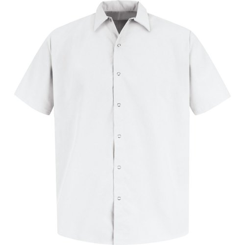 Men's Specialized Polyester Pocketless Short Sleeve Work Shirt