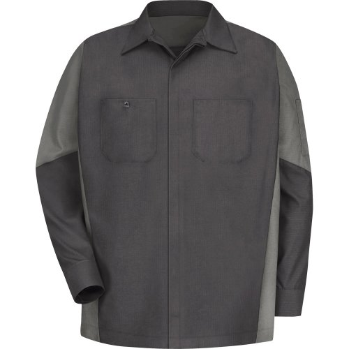 Two-Tone Long Sleeve Crew Shirt