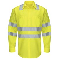 Hi-Visibility Ripstop Long Sleeve Work Shirt Type R, Class 3