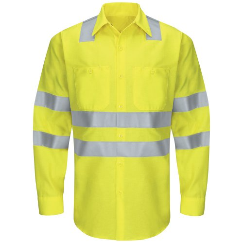 Hi-Visibility Ripstop Long Sleeve Work Shirt Type R, Class 3