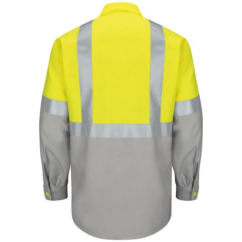 Hi-Visibility Ripstop Color Block Long Sleeve Work Shirt Type R, Class 2