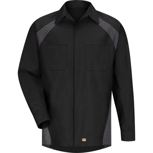 Diamond Plate Long Sleeve Shop Shirt