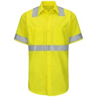 Hi-Visibility Ripstop Short Sleeve Work Shirt Type R, Class 2