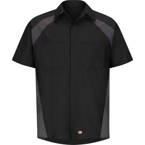 Red Kap Diamond Plate Short Sleeve Shop Shirt