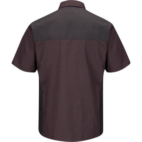 Striped Short Sleeve Color Block Shirt