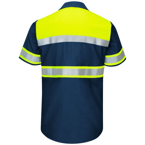 Hi-Visibility Ripstop Color Block Short Sleeve Work Shirt Type O, Class 1