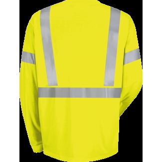 National Uniforms Hi Visibility Long Sleeve T Shirt