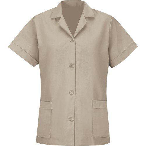 Button Smock Loose Fit Short Sleeve