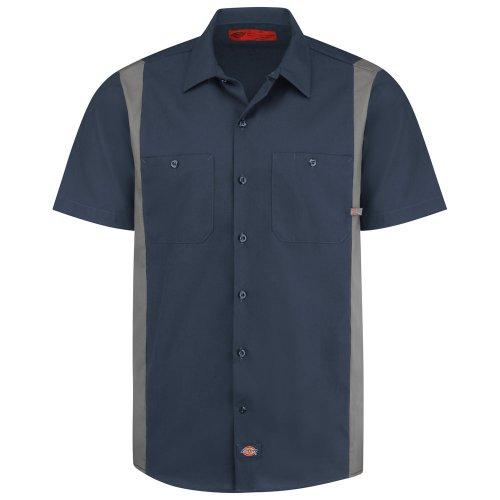 Men's Industrial Color Block Short-Sleeve Shirt