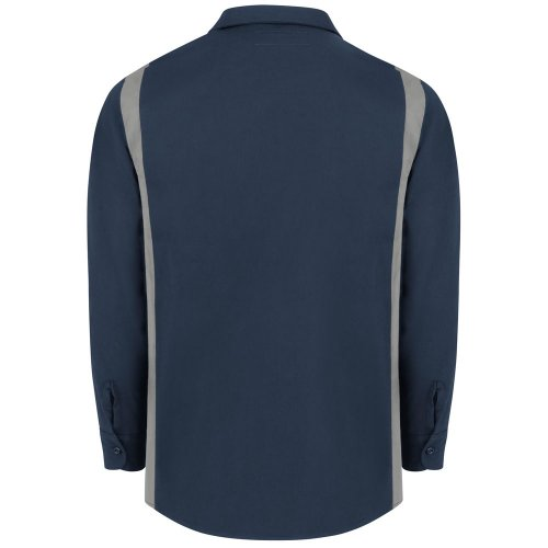 Men's Industrial Color Block Long-Sleeve Shirt