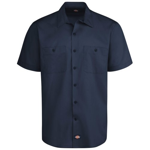 Men's Industrial WorkTech Ventilated Short-Sleeve Work Shirt w/Cooling Mesh