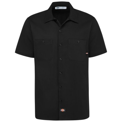 Men's Industrial Cotton Short-Sleeve Work Shirt