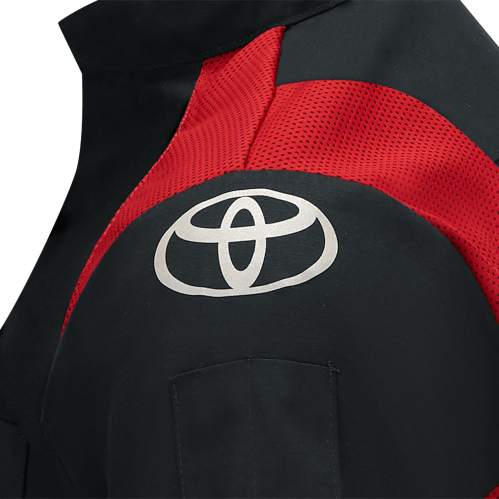 Toyota Dealership White Button-Up With Red Toyota Logo Embroidery Fast Shippin